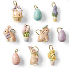 Lenox Celebrate Easter Miniature Tree Ornaments Set of 10 Bunny Eggs Flowers New