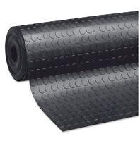 Tappeto antiscivolo gomma nero al metro h120 cm robusto passatoia zerbino bolle