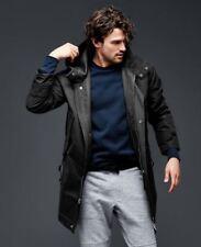 Gap Oversized Parka Coat, True Black Sz L (C127)
