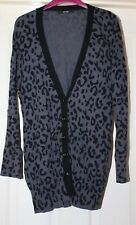 George Grey Animal Print Cotton Cardigan, Size 14 - Lovely!