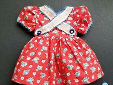 "Arranbee Original Red~Blue Floral Doll Dress ~Criss Cross Front~Fits18"" Dolll"