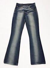 Levis 525 W28 L34 tg 42 jeans bootcut zampa donna levi's usati blu loose T996
