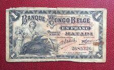 Congo Belge - Belgique - Rare Billet de 1 Franc 15-1-1920 MATADI