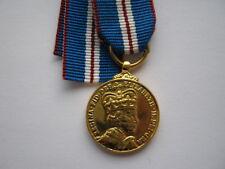 Miniature Elizabeth II 2002 Golden Jubilee medal