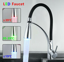 Kitchen Sink Faucet Single Handle Pull Down Sprayer Swivel Chromed  Mixer Tap