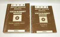 1992 Plymouth Vista Summit Wagon Factory Service Manuals  GOOD USED CONDITION