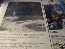 "1989 Jack Daniel's Ad-1/2 page Ad-Fishing Tennessee Streams-8.5 x 10.5""Original"