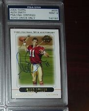 2005 TOPPS ALEX SMITH Signed ROOKIE Auto RC CARD #435 PSA 9 KANSAS CITY CHIEFS