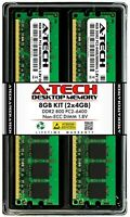 A-Tech 8GB 2 x 4GB PC2-6400 Desktop DDR2 800 MHz 240pin DIMM Memory RAM 8G 2x 4G