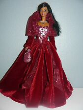 2002 HOLIDAY CELEBRATION Barbie Doll ~ African American in Burgundy Red Gown