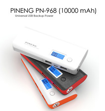 Original PINENG (BLACK) Power Bank PN-968 10000mAh PN 968 Dual USB Charging