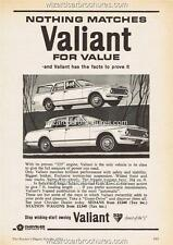 1964 VALIANT SEDAN SAFARI AP5  A3 POSTER AD SALES BROCHURE ADVERTISEMENT ADVERT