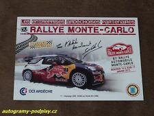 Sebastien LOEB - Citroen (2013) Rallye Monte Carlo promo, Karte/card 10x15 cm