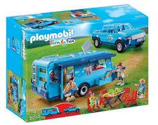 NEU Playmobil 9502 Family Fun Pick Up und Wohnwagen Caravan Fun Park und Zubehör