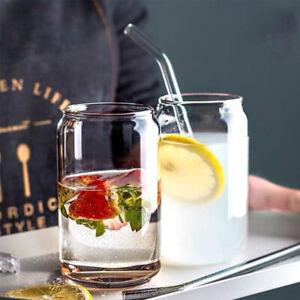 Creative Glass Cup Can Shape Tea Coffee Mug Wine Glass Drink Cup High GlassWFIT