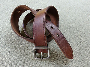 Sportsgirl Brown Genuine Leather Belt With Silver Metal Buckle Size 32 / 81 cm