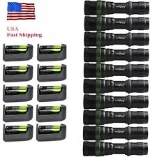 10Sets Super Bright XML-T6 LED Zoomable Flashight Focus Lamp+18650+Charger USA
