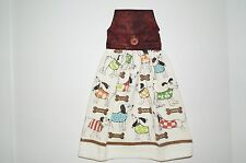 Silly Dogs in Sweaters Hanging Kitchen Towel MulticolorTerrycloth 100% Cotton US