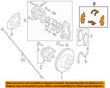 NISSAN OEM Brake-Front-Hardware Kit D10803JA0A