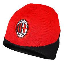 a68f68279d93 AC Milan officiel - Bonnet en tricot thème football - noir rouge
