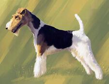artav Wire Fox Terrier Art Print Dog Puppy Painting