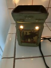 Retired Scentsy Lodge Full Size Electric Wax Warmer Ceramic Home Decor Fragrance
