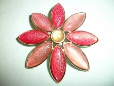 ( LoVeLy PiN~So UniQuE) ViNtaGe MeTaL LuCiTe EnaMeL DaiSy~PreTty PiNkS~So CuTe!