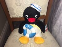 "PINGU THE SAILOR SOFT TOY PLUSH 10"" TAGS ATTACHED"