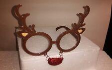 Rentierbrille , Nikolausbrille , Weihnachtsmannbrille, Partybrille , Santa Claus