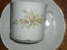 1 Kaffeebecher / Kaffeetasse + Untertasse  Mitterteich  Gelbe Rosen