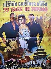 CHARLTON HESTON + 55 TAGE IN PEKING + AVA GARDNER + DAVID NIVEN +