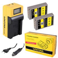 2x Batteria Patona + caricabatteria Synchron LCD USB per Olympus Pen E-PL2