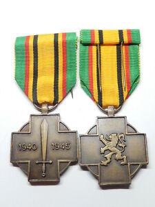 R14A) Belle médaille militaire belge guerre 1939 1945 belgian medal