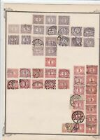netherlands stamps on album page  ref 13528