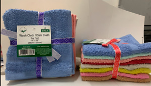 "WASHCLOTH / DISHCLOTHES 12""x12"" 6,8,12,18,24 PIECES PER PACK 100%COTTON"