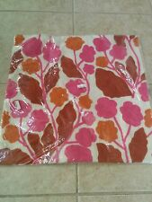 "West Elm Cayenne Crewel Blossom  Pillow Cover 20"" pink orange NWT"