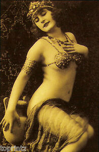 Old Vintage Print photo fashion model 1920 poster art gatsby flapper