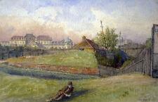 Carl WEISS (1860-1931) Rast in der grünen Landschaft beim Schloss Belvedere.