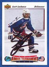 Scott Lachance New York Islanders 1991-92 Upper Deck Signed Card