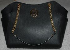 Michael Kors Jet Set Travel Saffiano Leather Large Chain Shoulder Tote Black NWT