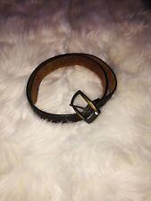 Womens Cowhide Western Detail Brown Belt 34 inch.