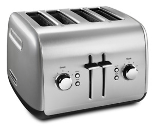 KitchenAid 4-Slice Toaster with Manual High-Lift Lever, Contour Silver