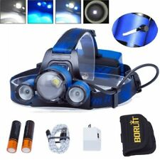 BORUiT Headlight Hunting BLUE LED BLOOD TRACKING Zoom Headlight 18650 HEADLAMP
