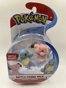Pokemon Battle Squirtle and Snubbull Action Minifigure Figure Pack Nintendo Toy