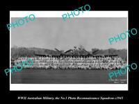OLD LARGE HISTORIC PHOTO AUSTRALIAN MILITARY WWII No 1 PHOTO RECON SQUARDON 1945