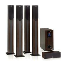 Home Theater Sistema 5.1 Cinema 190W RMS BT USB SD AUX telecomando Legno