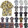 Mens Floral Hawaii Short Sleeve Button Down Hawaiian T Shirt Summer Holiday Tops