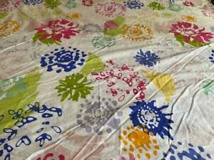 Ikea Full Queen Duvet Cover Multicolor Floral 80 x 82 inches