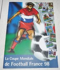 RARE FOOTBALL COUPE MONDE FRANCE 98 TIMBRES GUINEE LAOS CAMBODGE TOGO BENIN