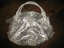 BRAND NEW! JENNIFER LOPEZ SILVER SNAKESKIN HANDBAG HOBO PURSE